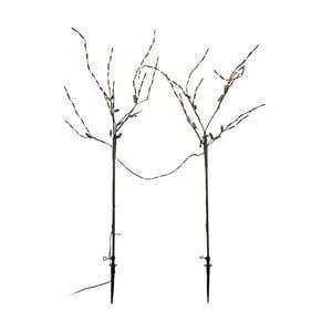 Sada 2 dekorativních stromků s LED světly Naeve, výška 70 cm