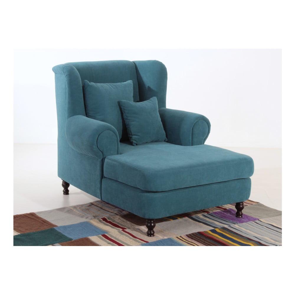 fotoliu max winzer mareille albastru petrol bonami. Black Bedroom Furniture Sets. Home Design Ideas