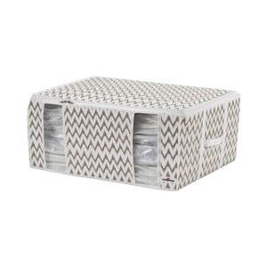 Bílo-béžový úložný box Compactor Compactino ZigZag, 65 x 50 x 27 cm