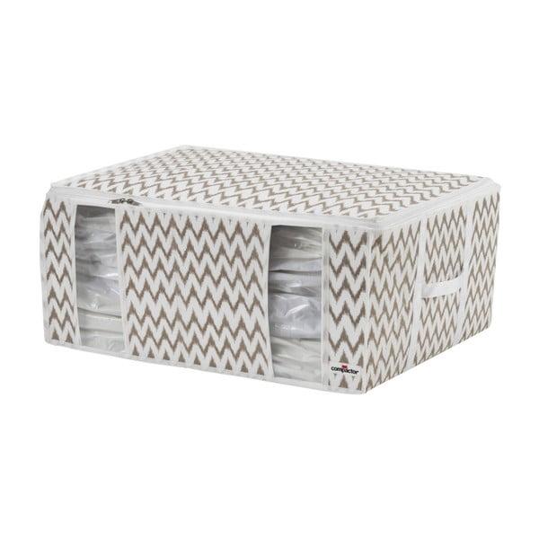 Cutie depozitare Compactor Compactino ZigZag, 65 x 50 x 27 cm, alb-bej