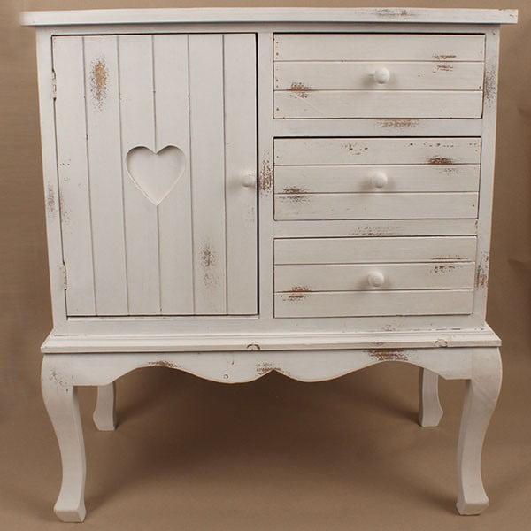 Dřevěná skříňka White Days, 74x84 cm