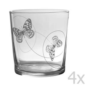 Sada 4 sklenic Butterfly Bodega, 370 ml