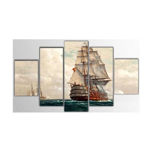 5dílný obraz Boat, 100x60 cm