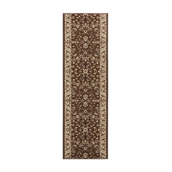 Koberec Basic Vintage, 80x400 cm, hnědý