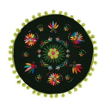 Pernă reversibilă Madre Selva Ave Otomi Negro, ⌀ 45 cm poza