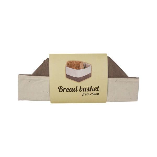 Coș de depozitare produse patiserie din bumbac Furniteam Bread, maro - alb