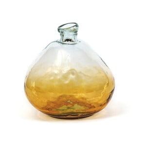 Skleněná váza Moycor Elis Amber, výška 18 cm