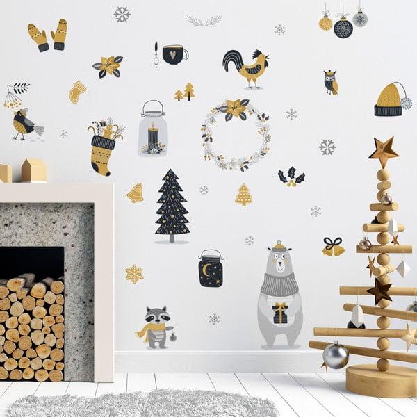 Vianočná samolepka Ambiance Scandinavian Animals