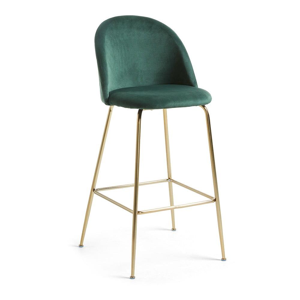 Zelená barová židle La Forma Mystere, výška 108 cm