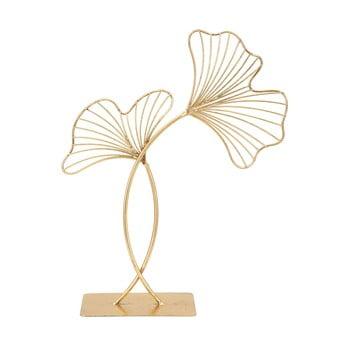 Decorațiune Mauro Ferretti Leaf Glam, înălțime 44 cm, auriu