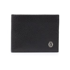 Černá pánská kožená peněženka Trussardi Moneymaker, 12,5 x 9,5 cm