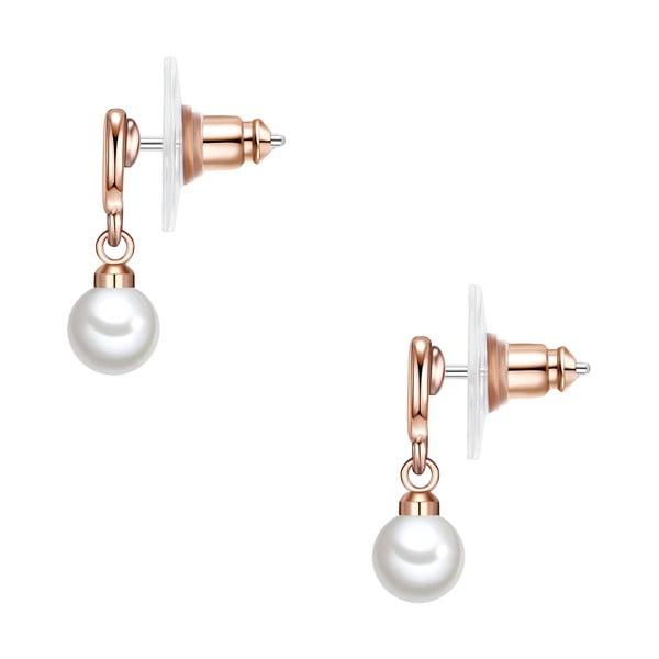 Náušnice s bílou perlou Perldesse Eia,⌀0,6cm