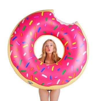 Colac gonflabil în formă de donuts Big Mouth Inc., roz