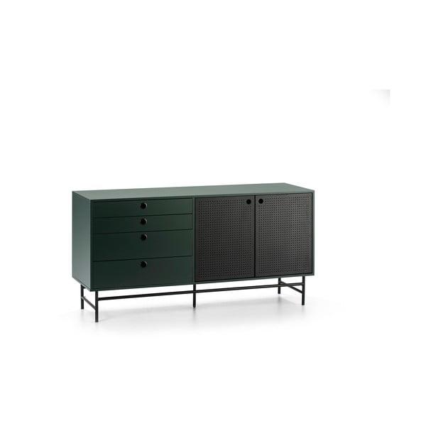 Czarno-zielona komoda Teulat Punto, szer. 150 cm
