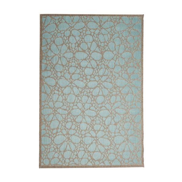 Modrý venkovní koberec Floorita Fiore, 160 x 230 cm