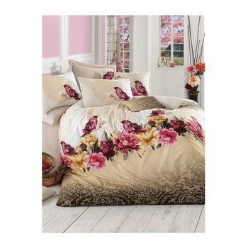 Lenjerie de pat cu cearșaf Calikusu, 200 x 220 cm imagine