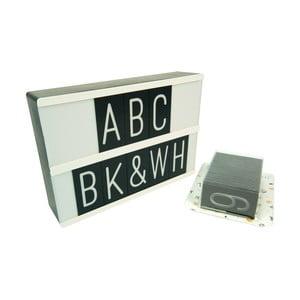 Světelný box se znaky Fisura ABC Letras