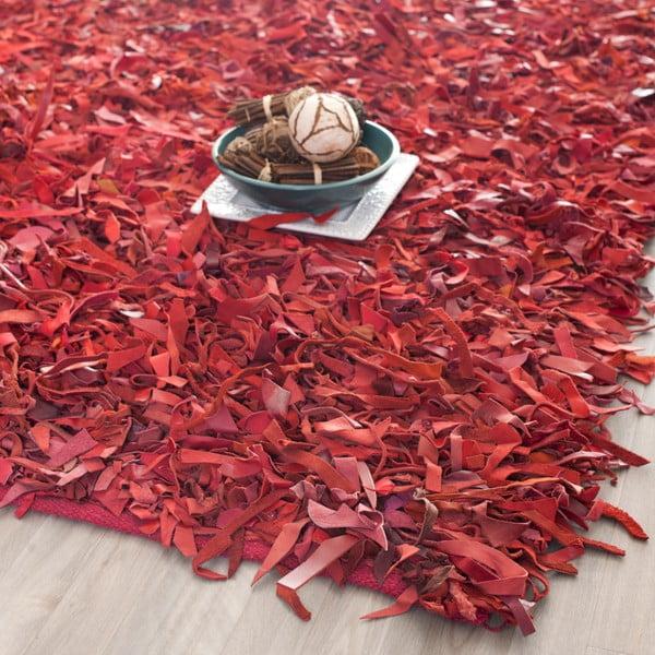 Kožený koberec Avant Red, 121x182 cm