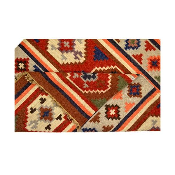 Ručně tkaný koberec Orange Ethno Symbols, 120x180 cm