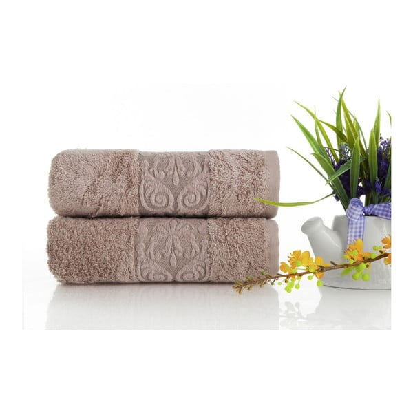 Sada 2ks ručníků Bamboo Glory Powder, 50x90 cm