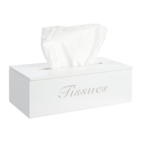 Krabička na kapesníčky Mouchoirs, bílá