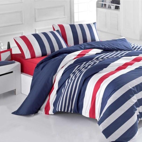 Povlečení Stripe Navy Mood, 140x200 cm