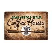 Plechová cedule Coffee House, 20x30 cm