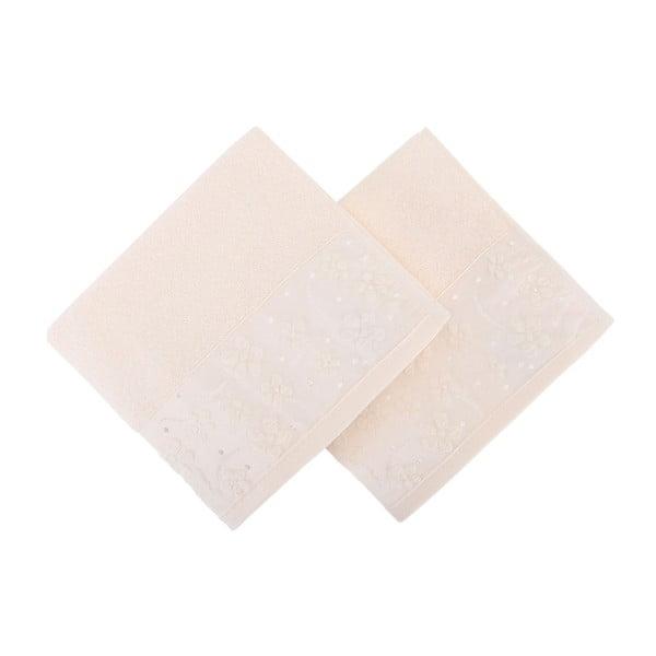 Sada 2 marhuľovooranžových uterákov z čistej bavlny, 50 x 90 cm