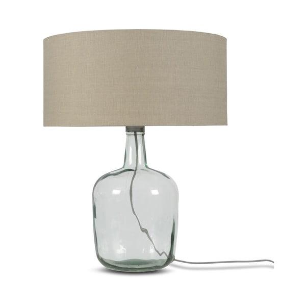 Stolová lampa s béžovým tienidlom a konštrukciou z recyklovaného skla Good&Mojo Murano, ⌀ 47 cm