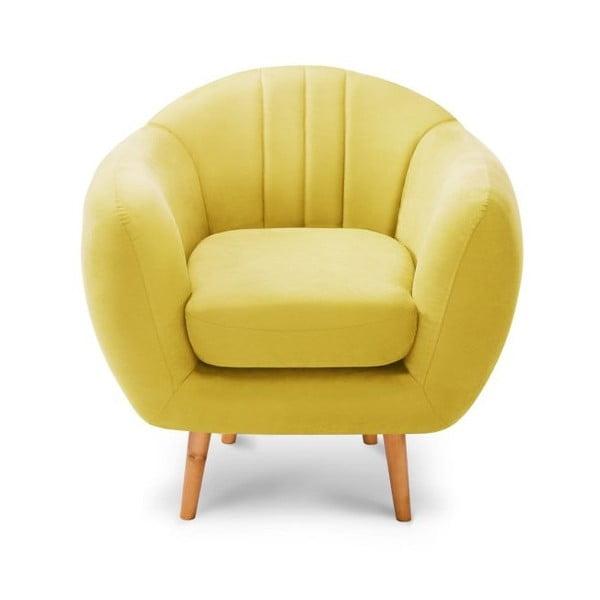 Żółty fotel Scandi by Stella Cadente Maison Comete