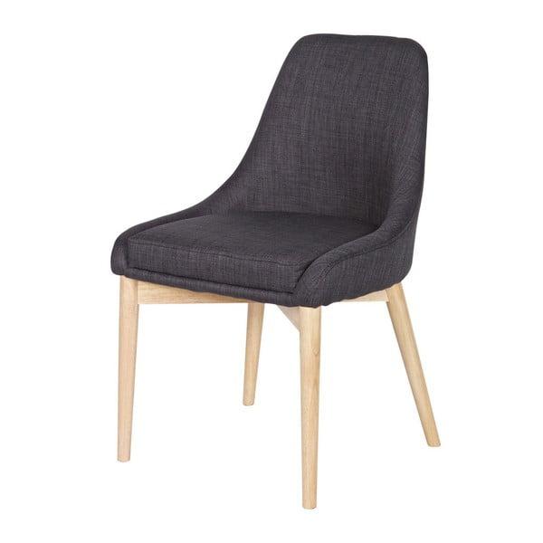 Sada 2 dřevěných šedých židlí Kobe Dark Grey