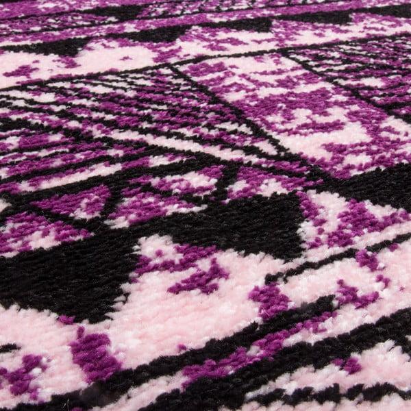 Koberec Aztec 491 purple/fuchsia, 80x150 cm
