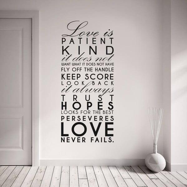 Dekorativní samolepka na zeď Love Is...