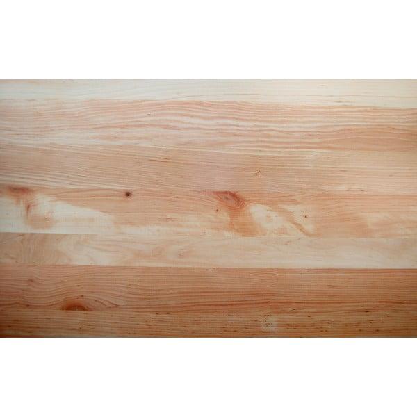 Postel z olšového dřeva Mazzivo Boxspring, 200x200cm