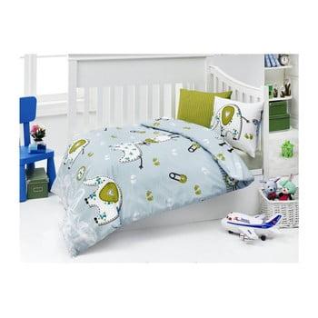 Lenjerie de pat din bumbac pentru copii New Friends 100 x 150 cm