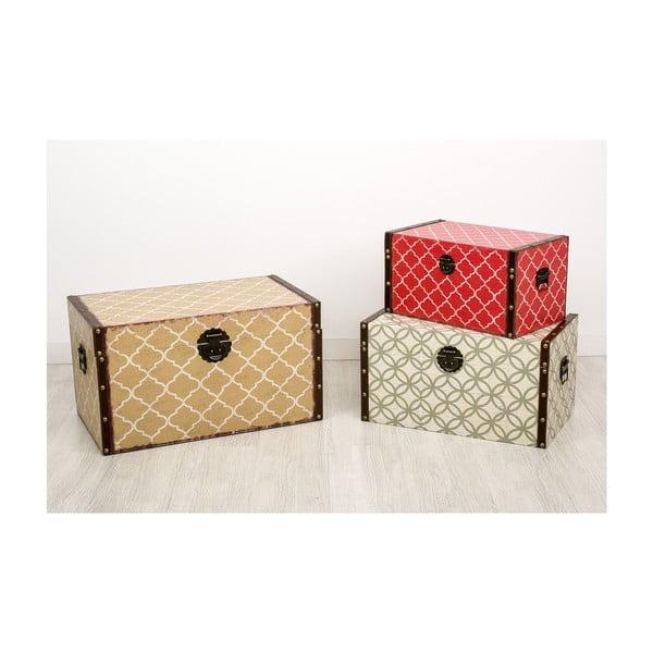Sada 3 úložných krabic Madera