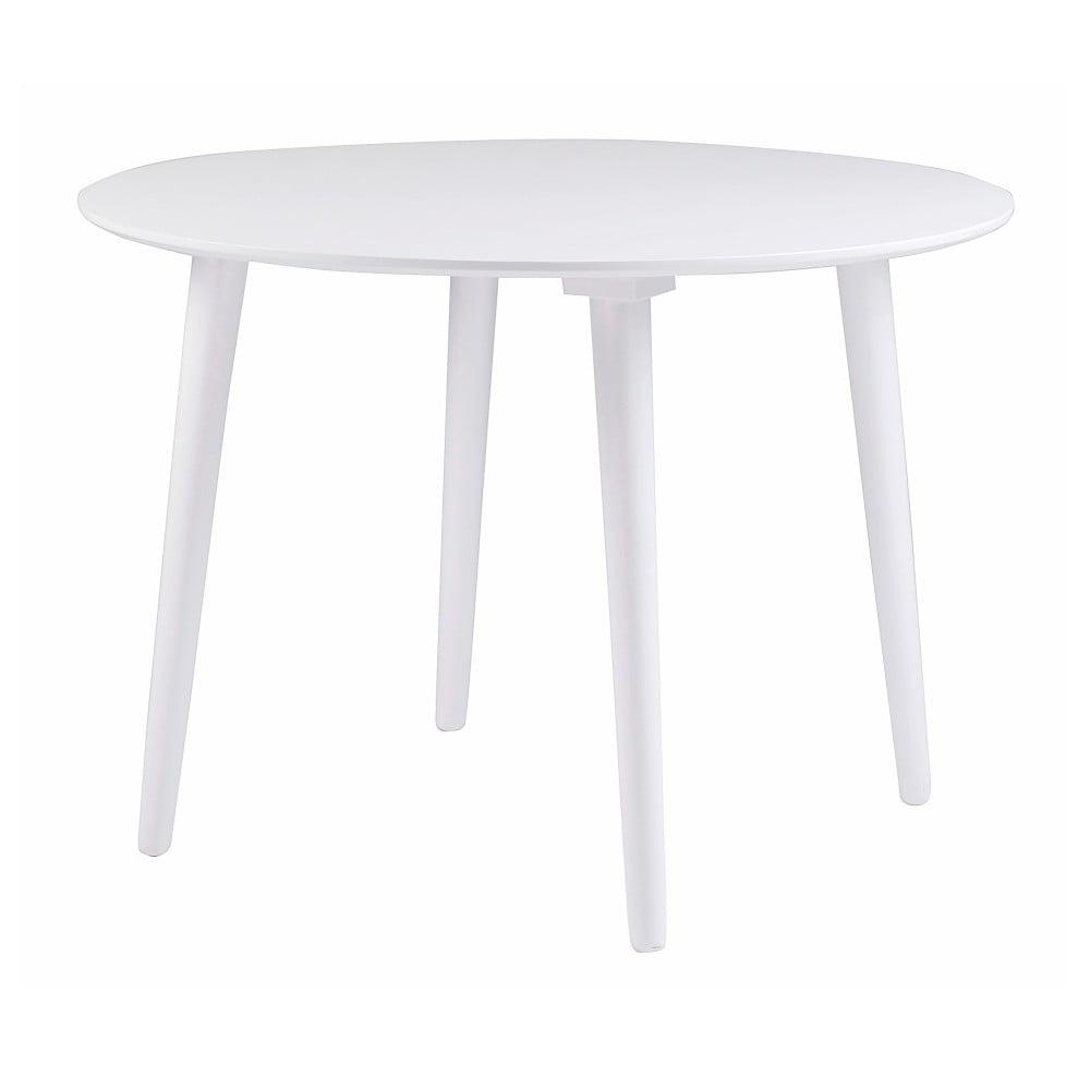 Bílý jídelní stůl ze dřeva kaučukovníku Folke Lotte