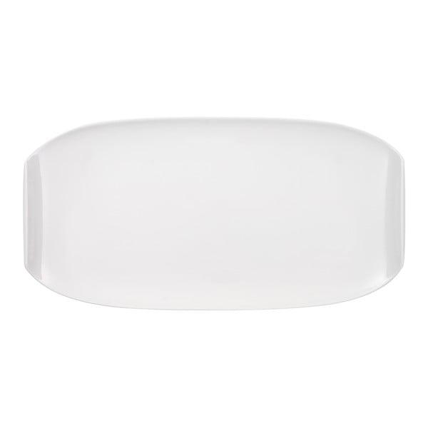 Biely hranatý porcelánový tanier Villeroy & Boch Urban Nature, 50 x 25 cm