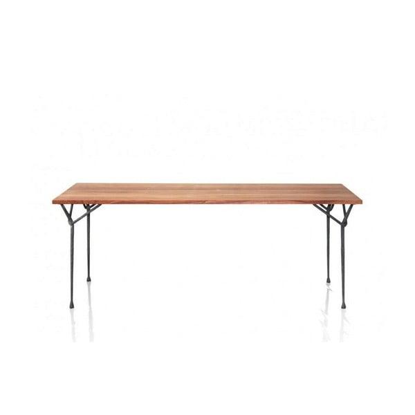 Masă cu blatul din lemn de nuc Magis Officina, lungime 200 cm