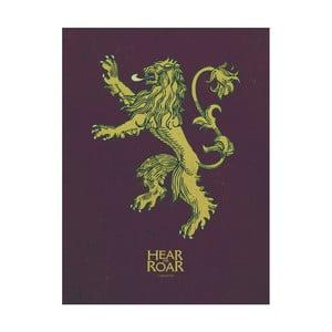 Obraz Pyramid International Game of Thrones Lannister, 60 x 80 cm