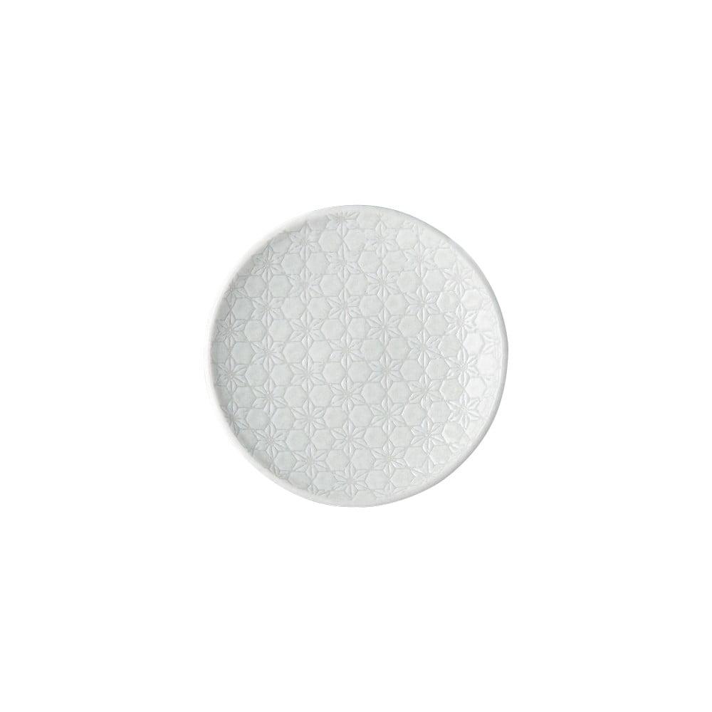 Bílý keramický talíř MIJ Star, ø17 cm