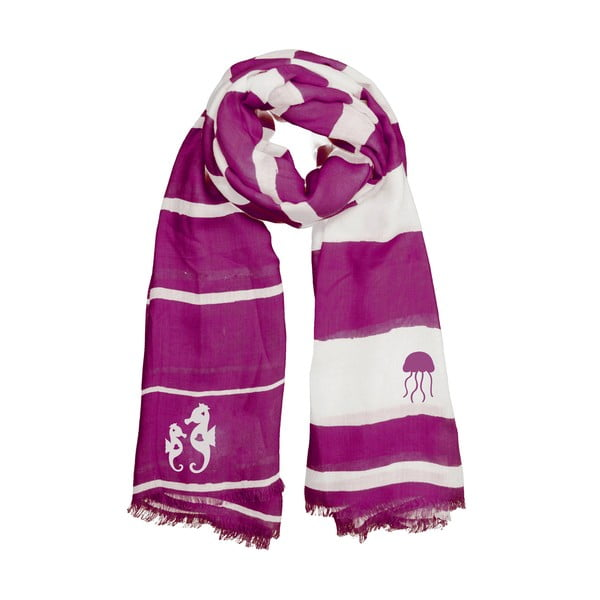 Šátek Purple Seahorse