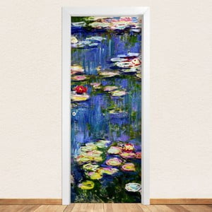 Samolepka na dveře LineArtistica Waterlili, 80 x 215 cm
