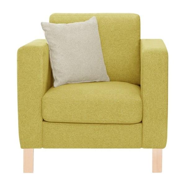 Žluté křeslo s krémovým polštářem Stella Cadente Maison Canoa