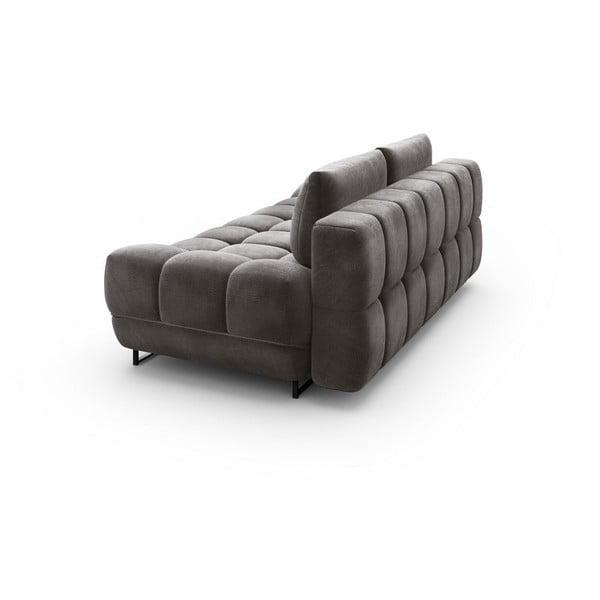 Canapea extensibilă cu înveliș de catifea cu 3 locuri Windsor & Co Sofas Cirrus, maro închis