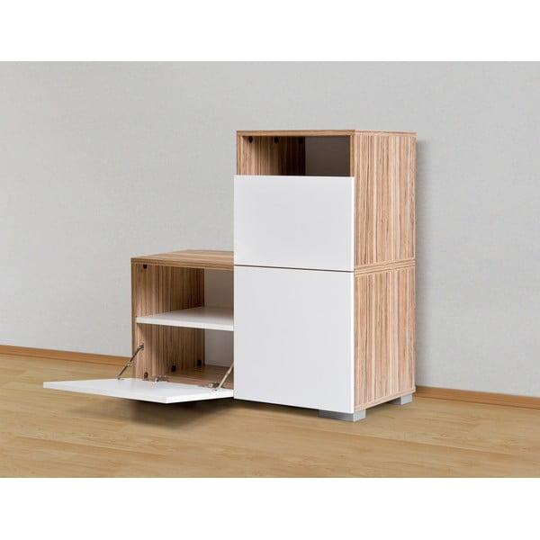 Úložná komoda Decoflex Unit, bílá/samba