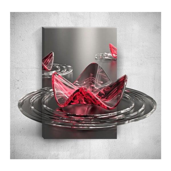 Nástěnný 3D obraz Mosticx Red Geo, 40 x 60 cm