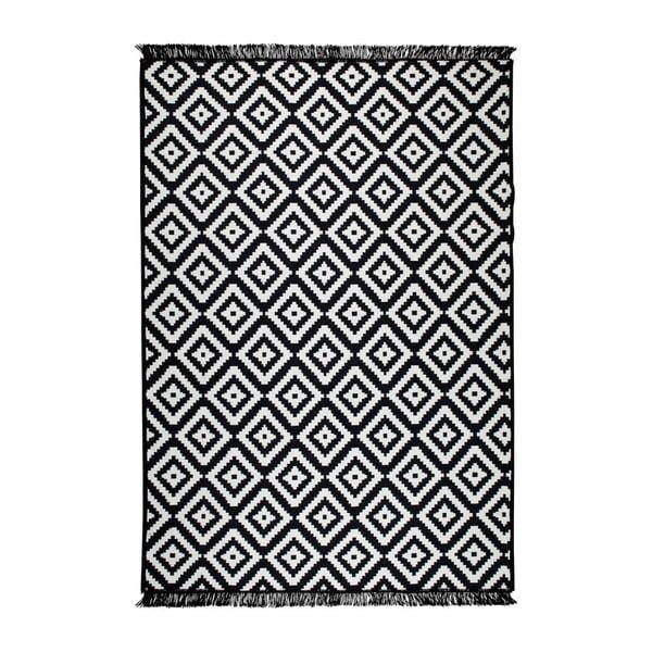 Černo-bílý oboustranný koberec Helen, 120 x 180 cm