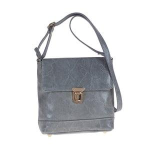 Šedomodrá kožená kabelka Tina Panicucci Julia