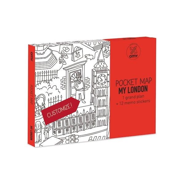 Kapesní omalovánka mapa London